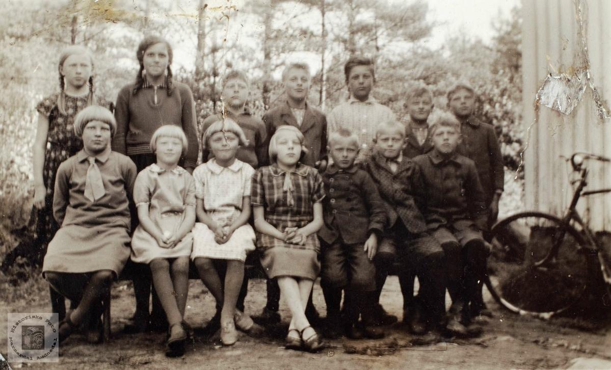 Skolebilde fra Ågedal, Bjelland senere Audnedal.