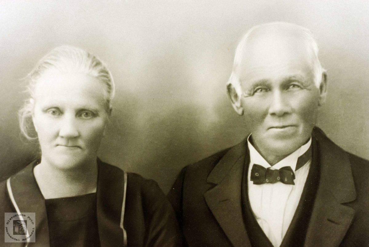 Ekteparet Maria Høyland og Torje Flottorp. Grindheim Audnedal.