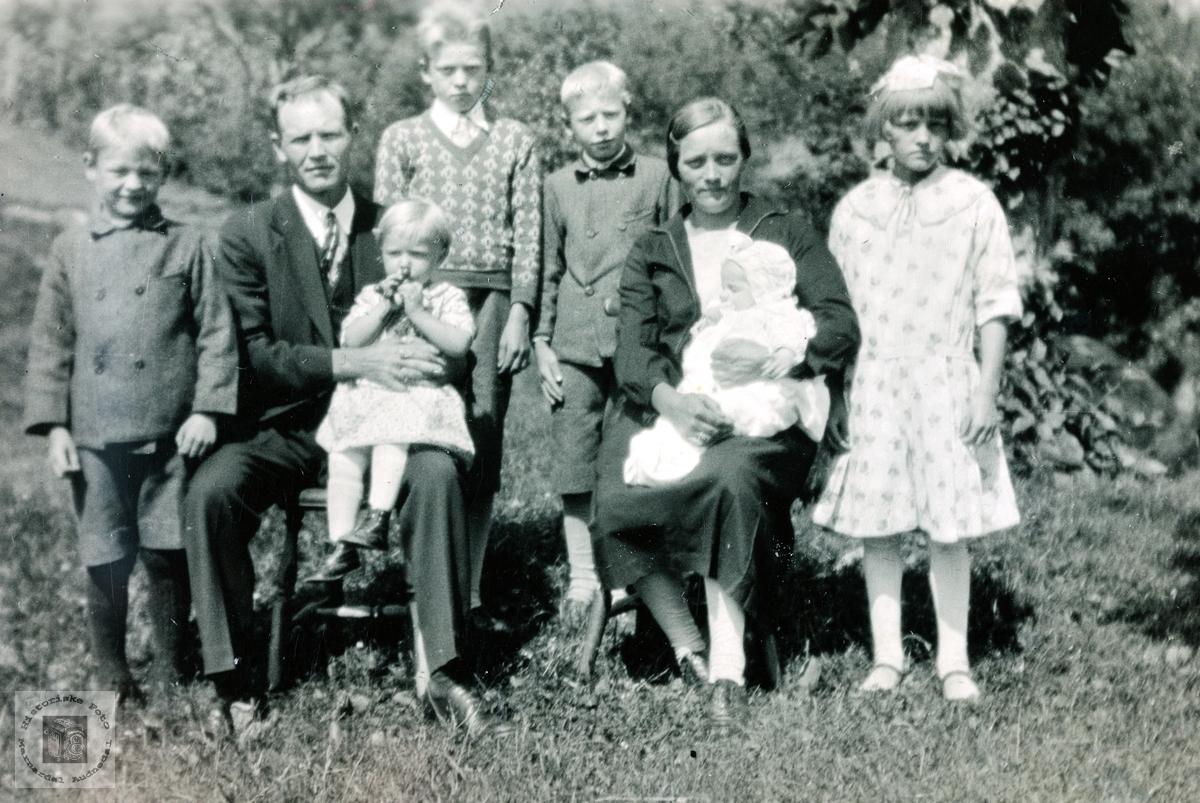 En del av familien Daniel Flottorp Grindheim.