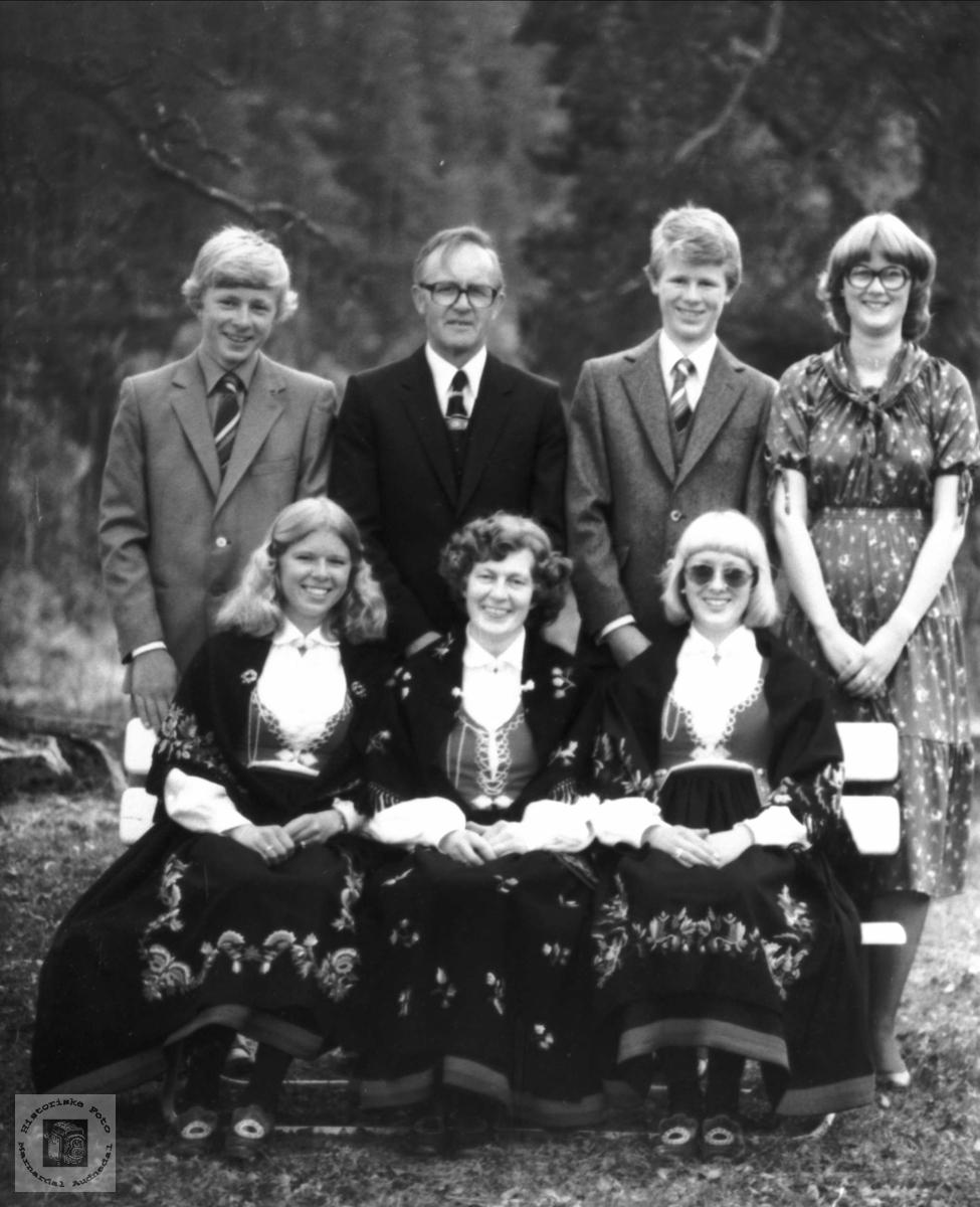 Familien Gustav Haraldstad fra Bjelland.