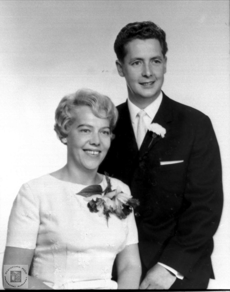 Brudeparet Anna og Harald Klundseter