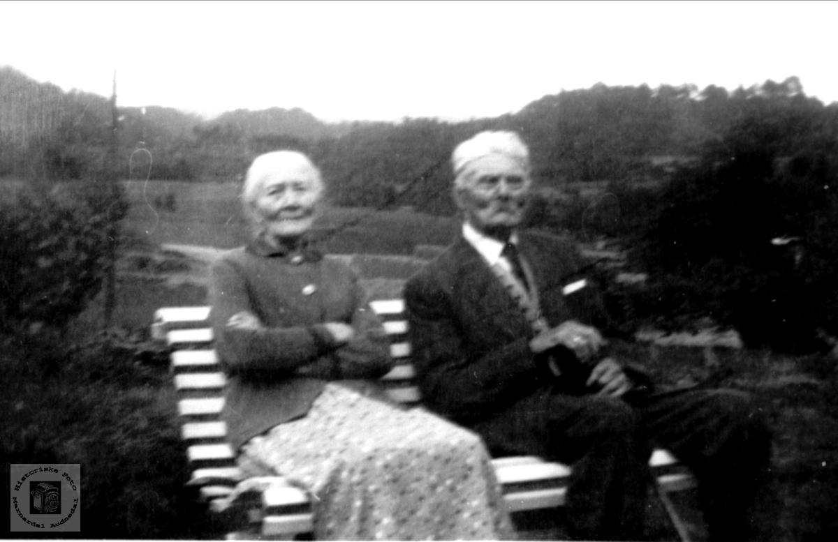 Søsknene Gunlaug og Gunder Tjomsland, Laudal.