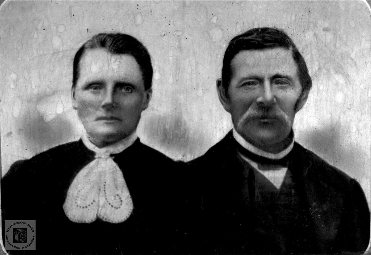 Ekteparet Berte og Nils Grimestad, Øyslebø.