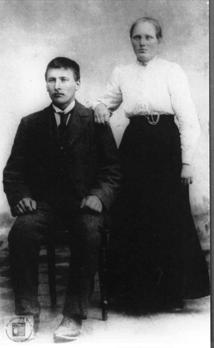 Ekteparet av Aanen Haraldstad og Anna Krågeland, Laudal.