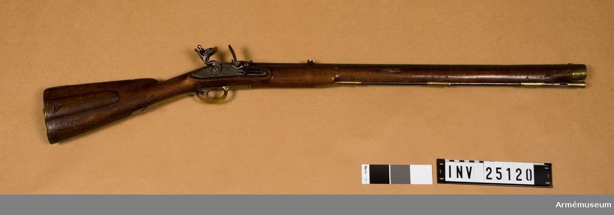 Grupp E II.  Studsare m/1803, avsedd för hirschfängarbajonett. På pipan märkt: A.S.R. A No 18.