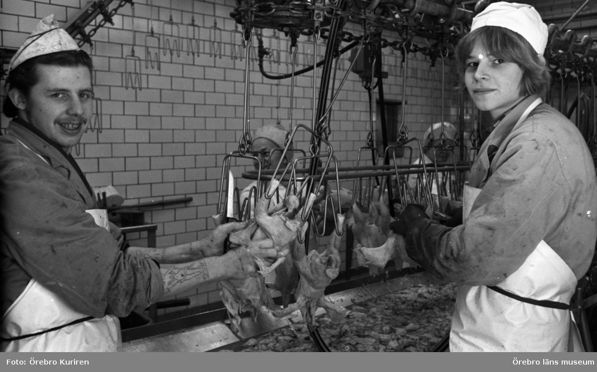 Jordbruksnummer, 12 mars 1969.Överproduktion av broilers. Slakteri för fjäderfä.