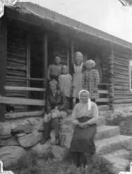 Frå Heggeslettene (Heggjislettat'n) i Hemsedal, ca. 1940. Fr