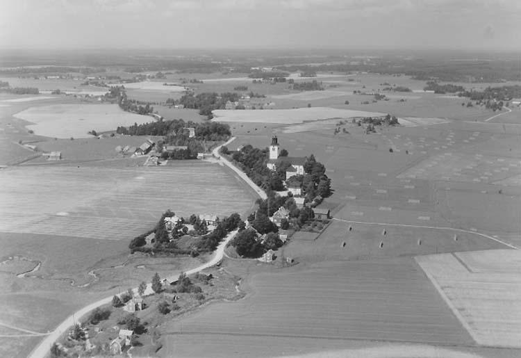 Flygfoto över Fellingsbro.