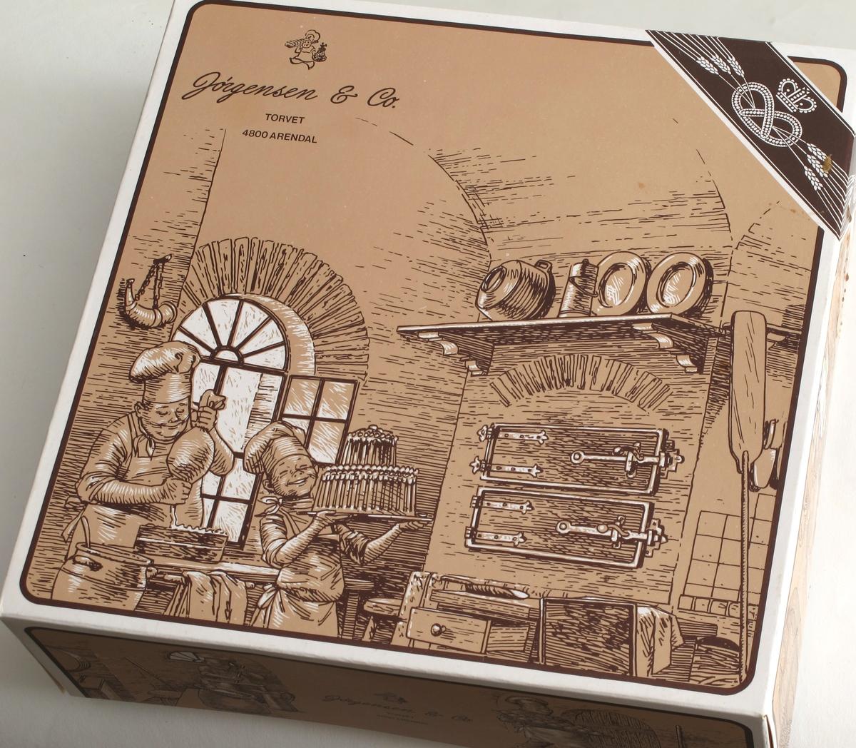 Bakeri-interiør  - tegning