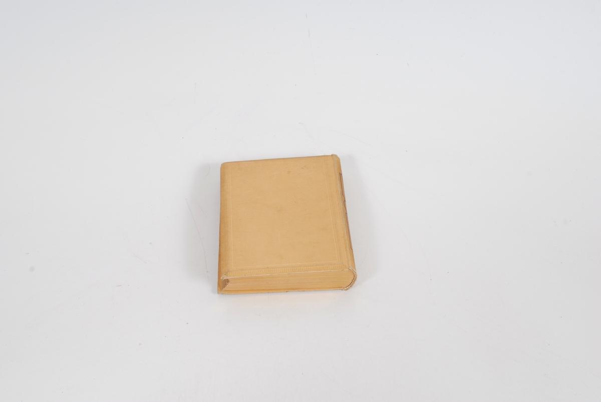 Gulldekor i tekst og ramme på front, *23 gullsnitt på arksidene.