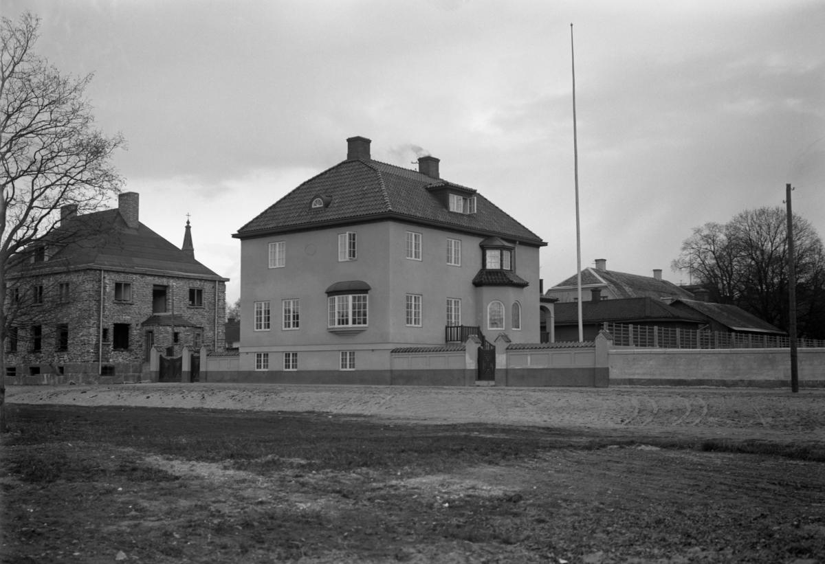 Josef Bergendorffs villa på Sandgrundsgatan runt 1920