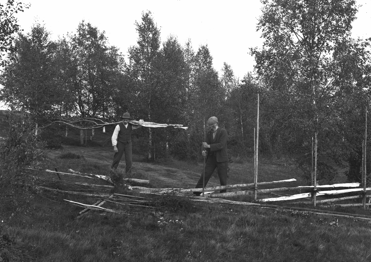 """""""Värmland, Jösse hd, Mangskog sn, Bjurbäcken. Gärdsgårsdsgärdning."""""""