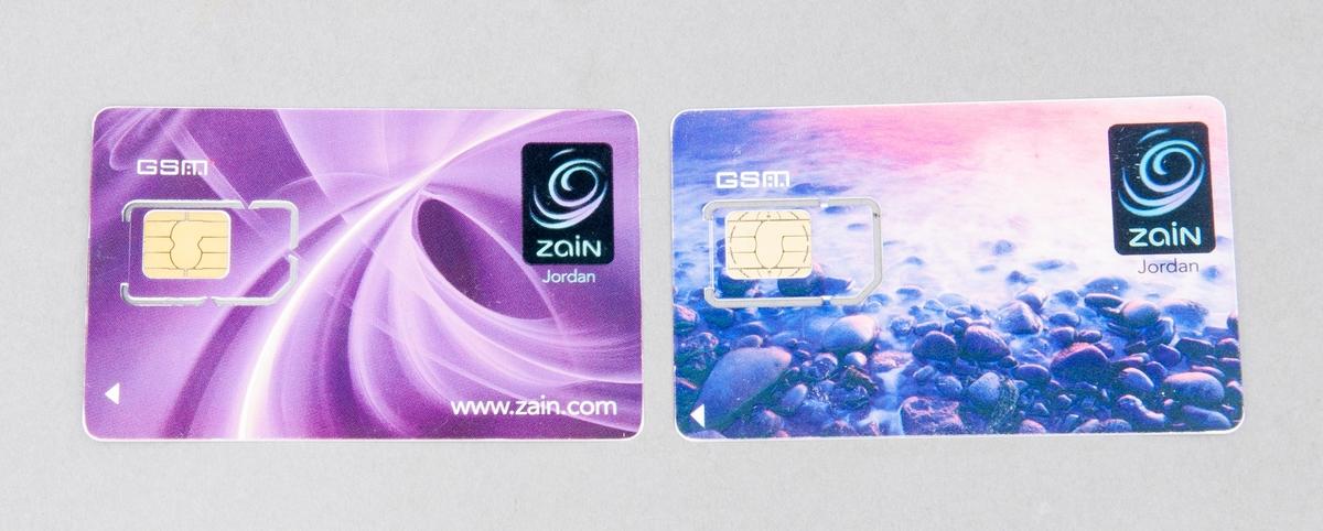 SIM-kort för användning i mobiltelefon.
