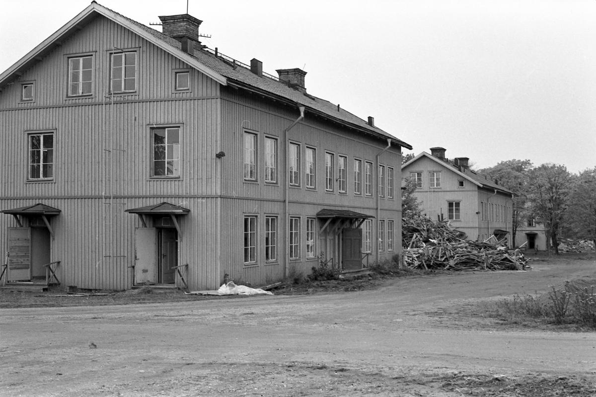 Rivning av hus i Kastet Bomhus. Oktober 1987.