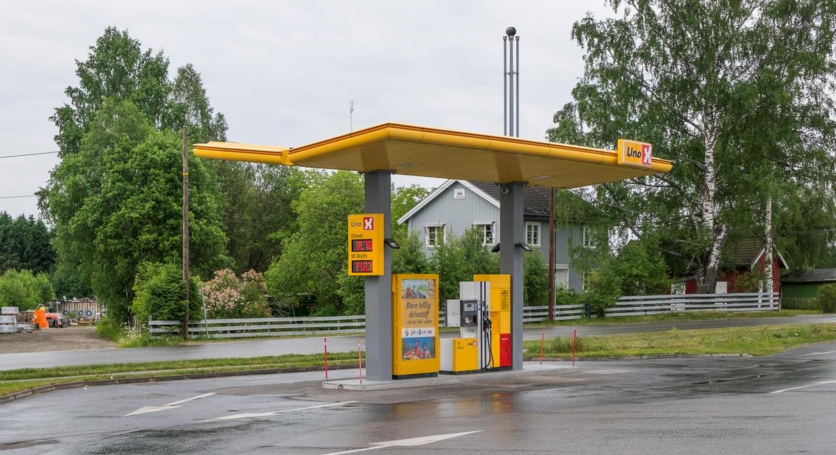 Uno X bensinstasjon Nyvegen Råholt Eidsvoll