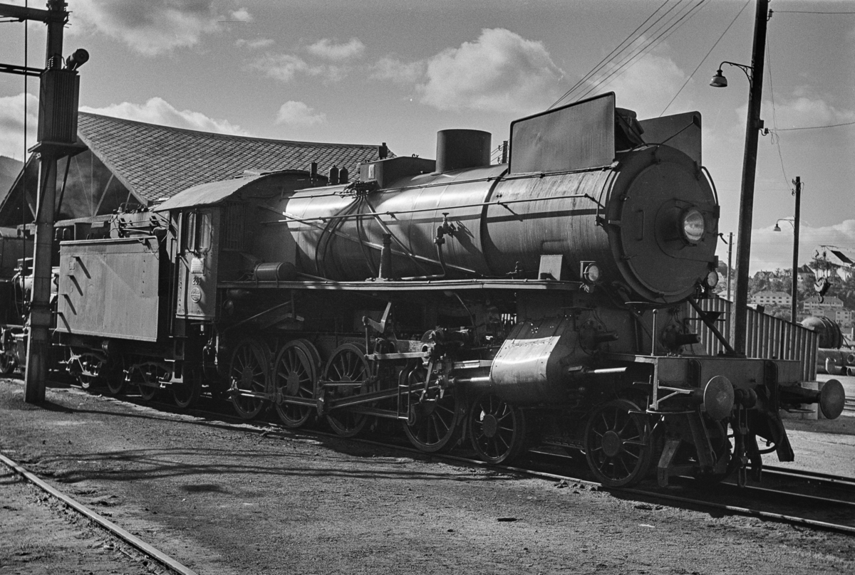 Damplokomotiv type 31a nr. 285 i Bergen.