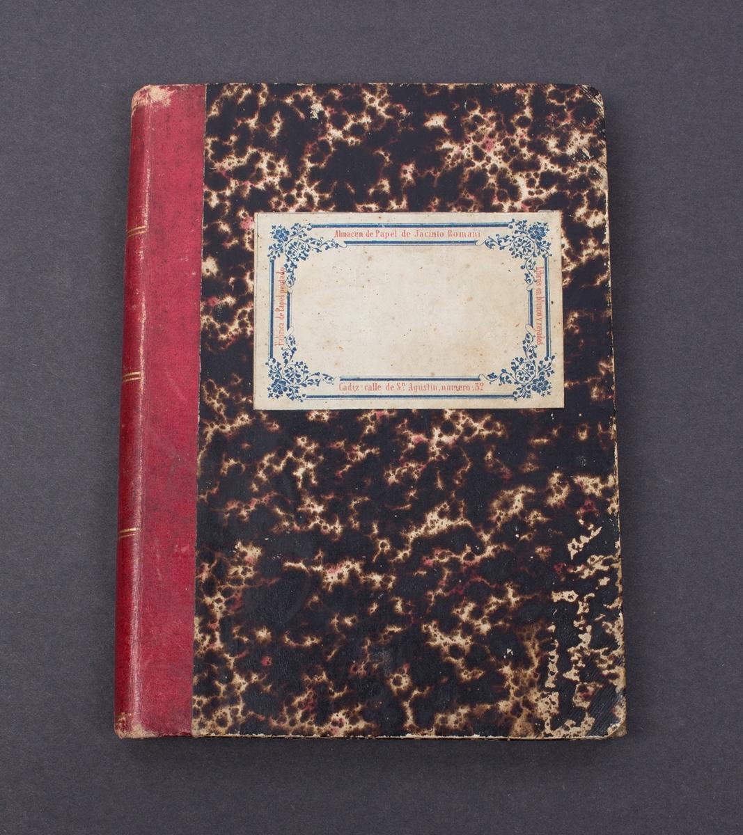 Dagbøker fra bark RIO GRANDE 1862-1893 skrevet av Kaia Bentzon (født Nordahl).