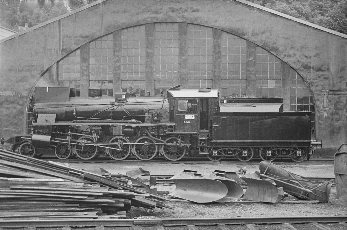 Damplokomotiv type 26c nr. 434 på Marienborg ved Trondheim.