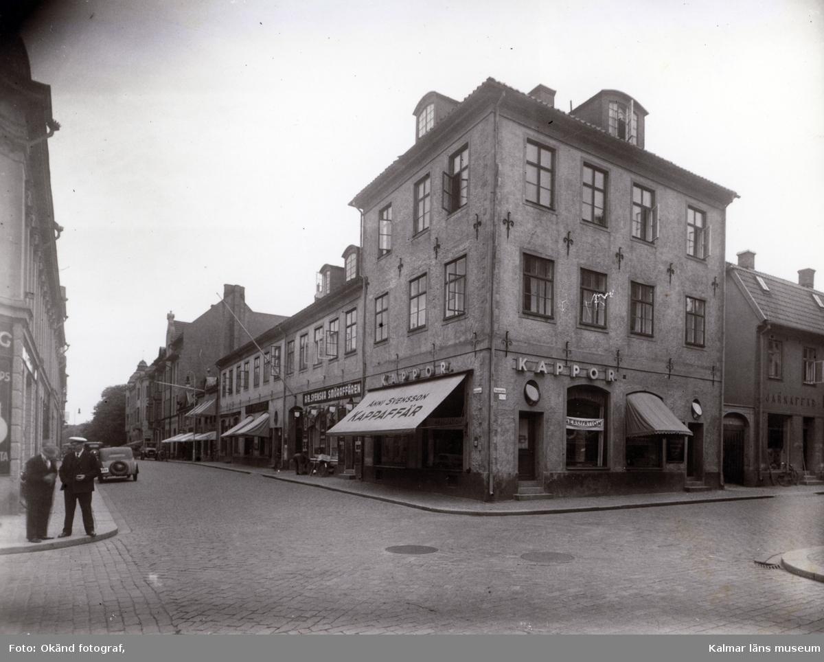 Rådman Joen Sylvesters hus i korsningen Södra Långgatan-Kaggensgatan.