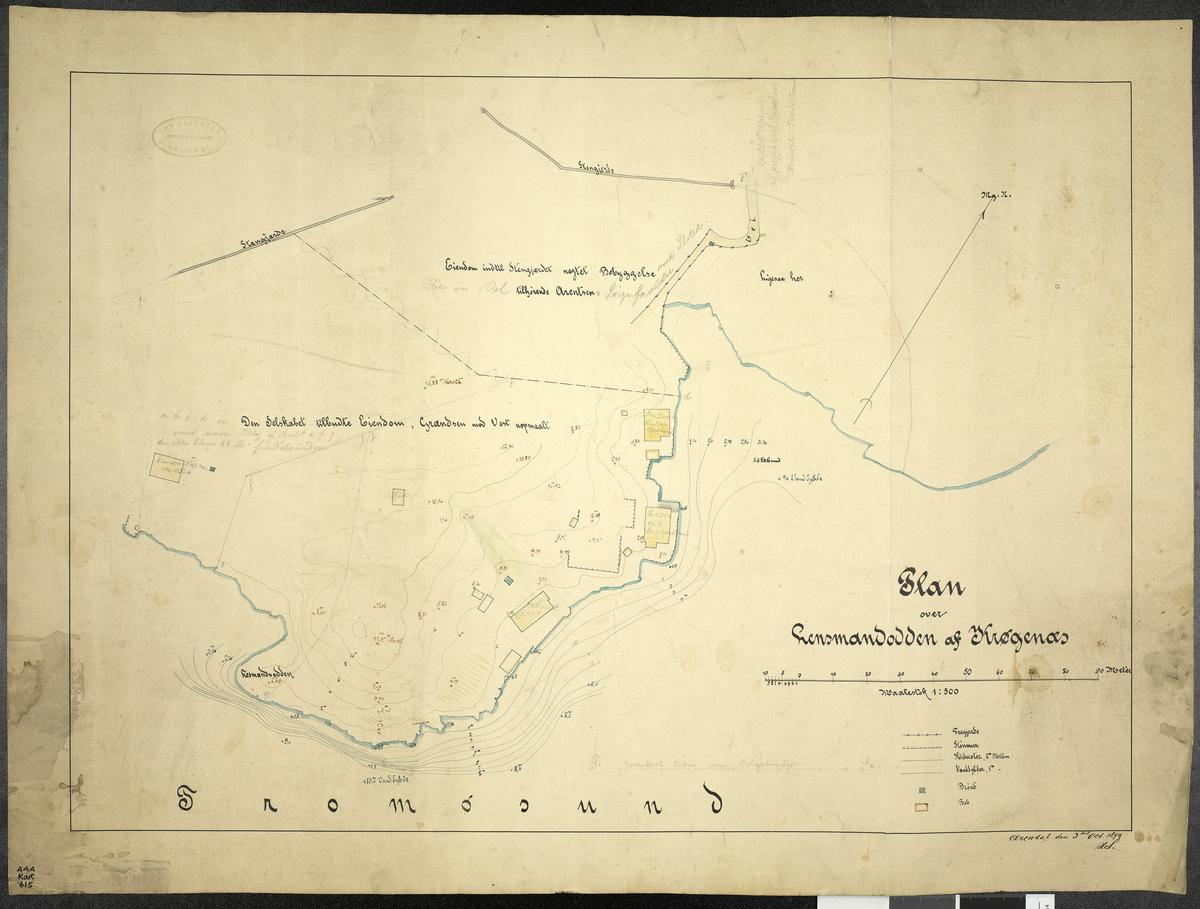 Plan over Lensmandodden af Krögernes