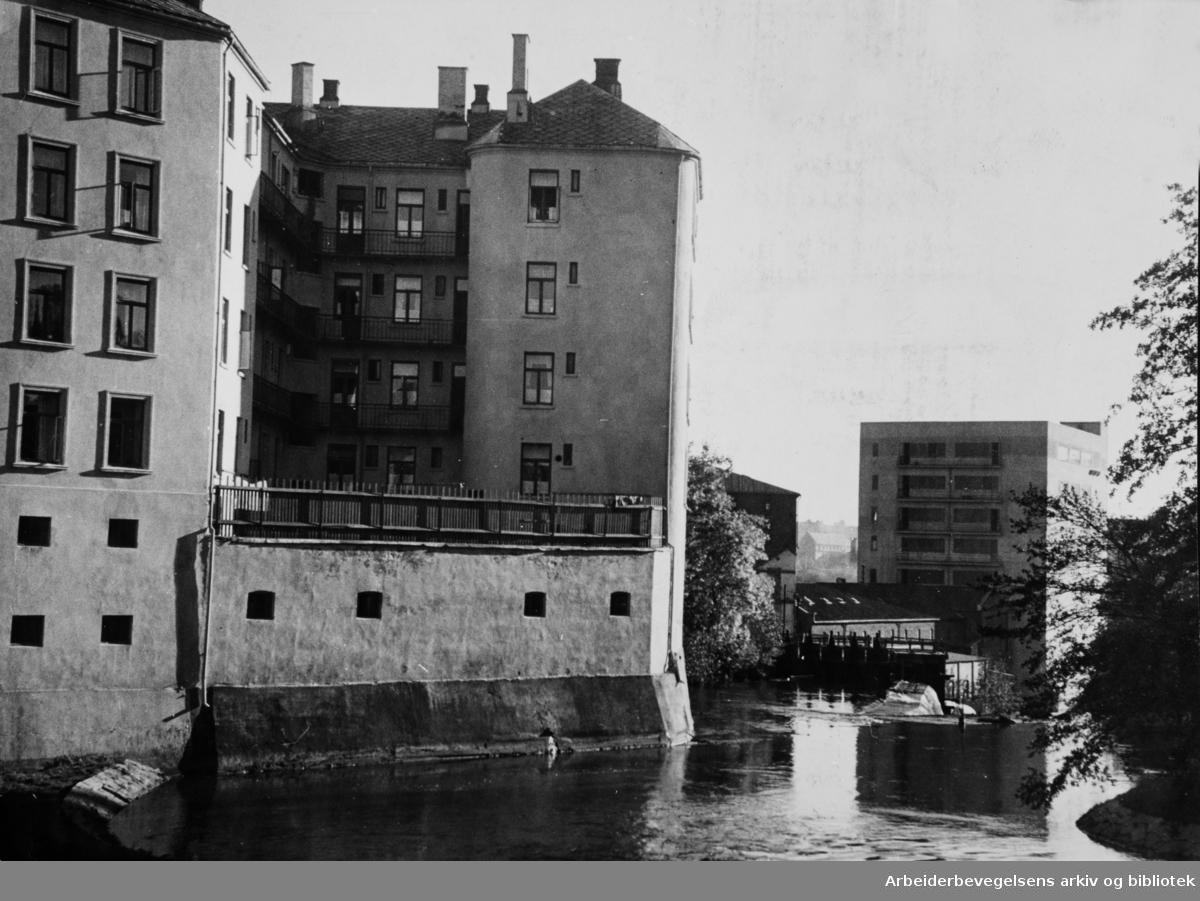 Akerselva. Oktober 1946