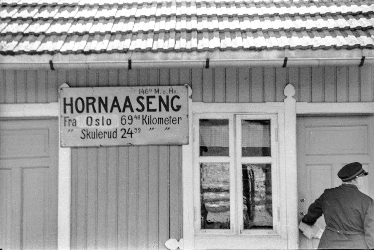 Hornåseng stasjon på Aurskog-Hølandbanen.