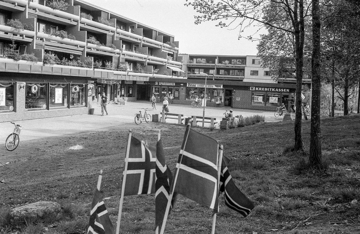 Langhus kjøpesenter åpnes. Fotograf: ØB Ukjent