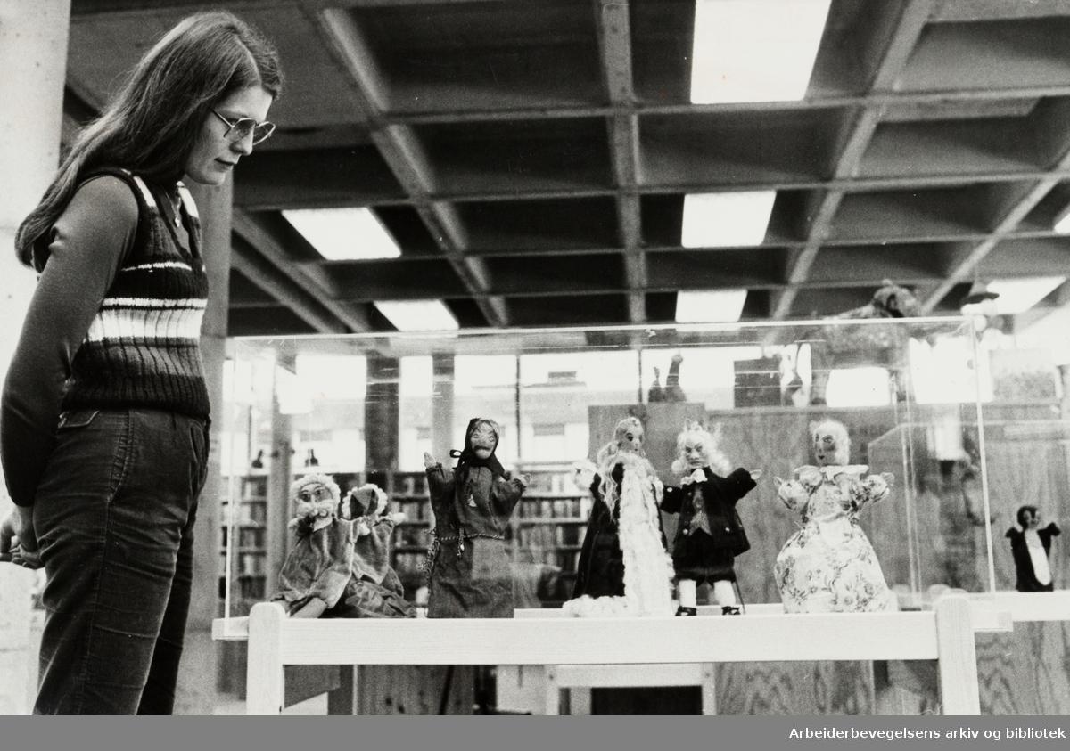 Deichmanske Bibliotek. Bøler filial. Avdelingsleder Solveig Nordli Hansen. Januar 1981