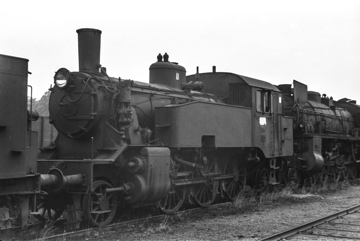 Hensatt damplokomotiv type 32a 286 i Lodalen i Oslo.