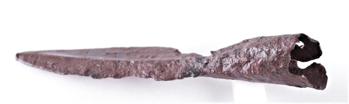 Spydspiss i jern fra eldre jernalder (eldste romerske jernalder).