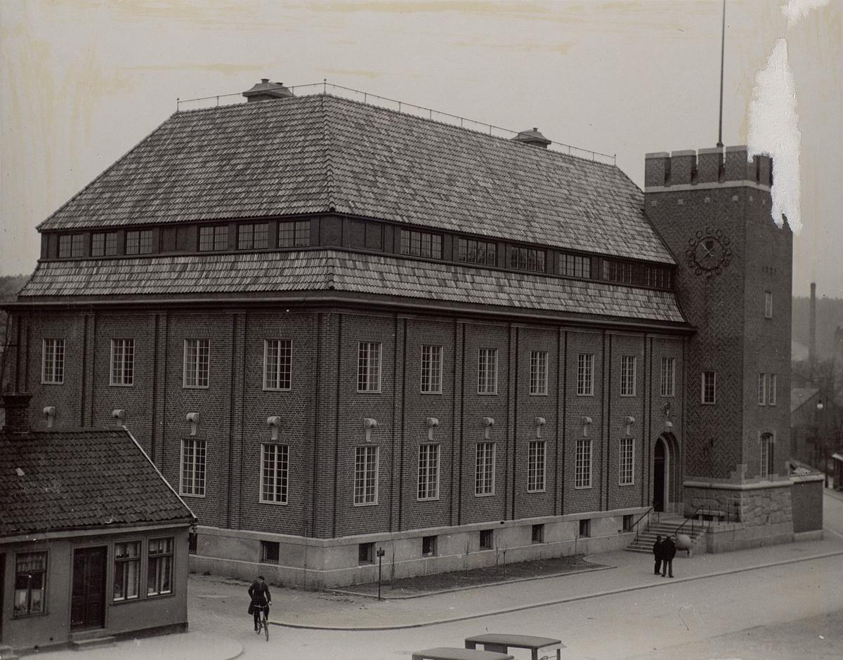 Karlstad. Telegraf- och telefonstationen före ombyggnaden 1936. Exteriör.