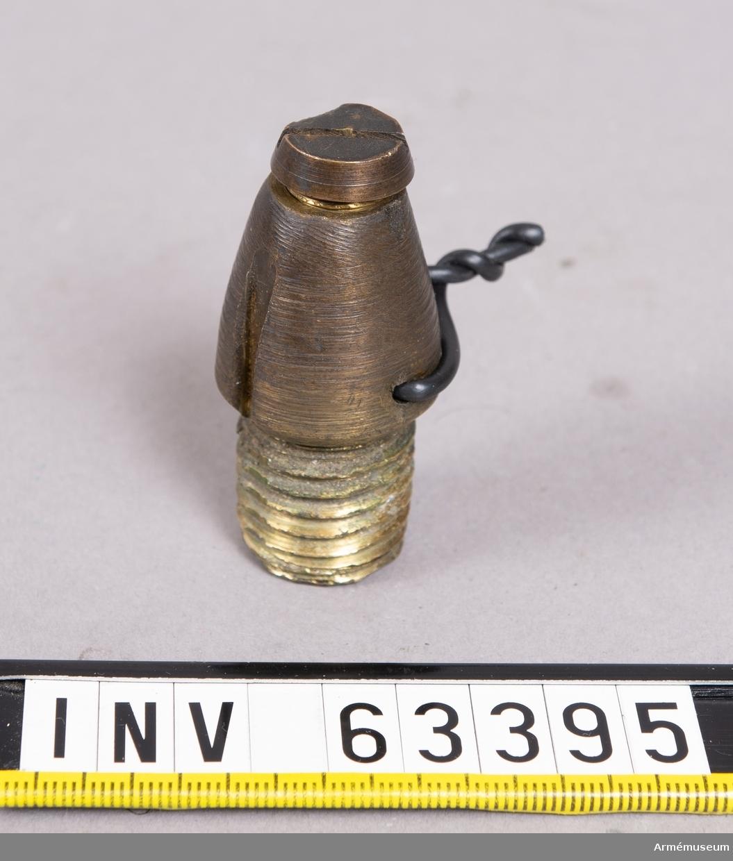 Grupp F II. Till 8 cm fylld granat m/1872 för framladdningskanon m/1863.