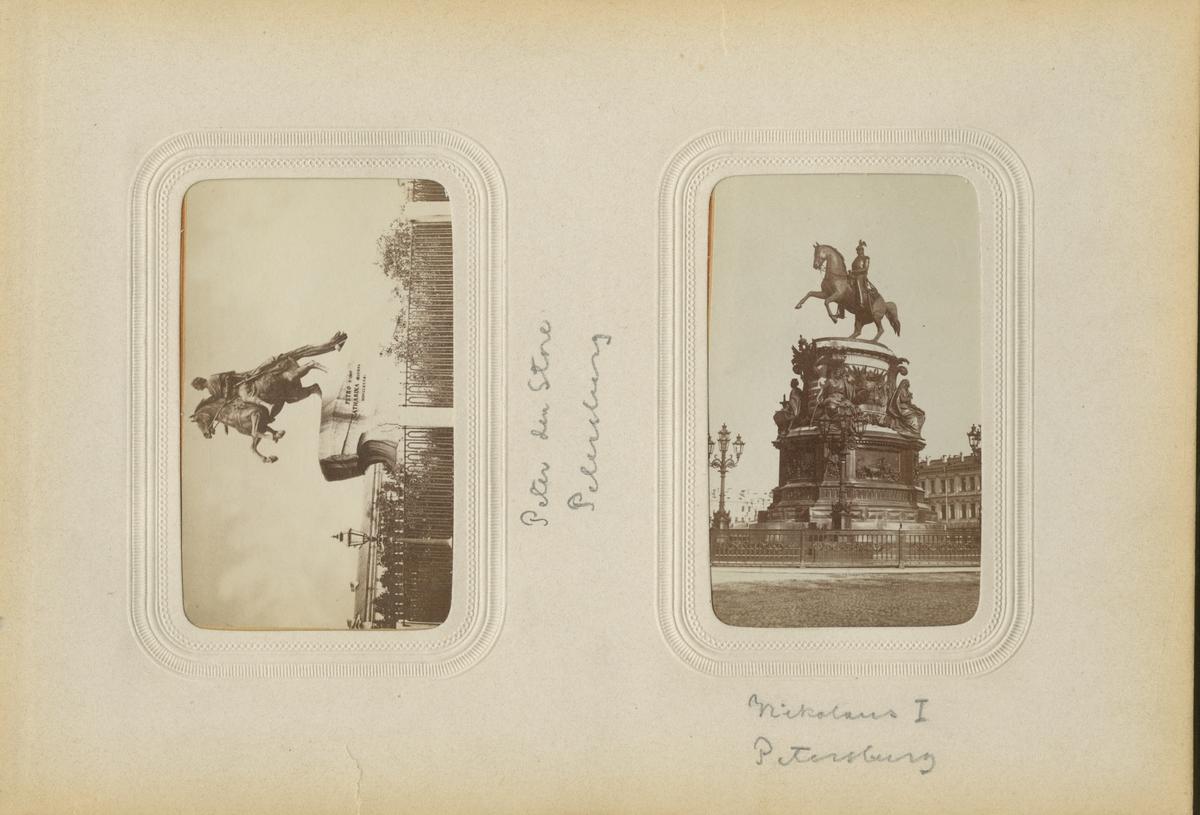 Ryttarstaty av Nikolaus I i S:t Petersburg.
