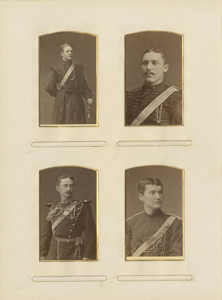 Porträtt av Otto Fredrik Wihlborg, underlöjtnant vid Skånska dragonregementet K 6.  Se även bild AMA.0021757.