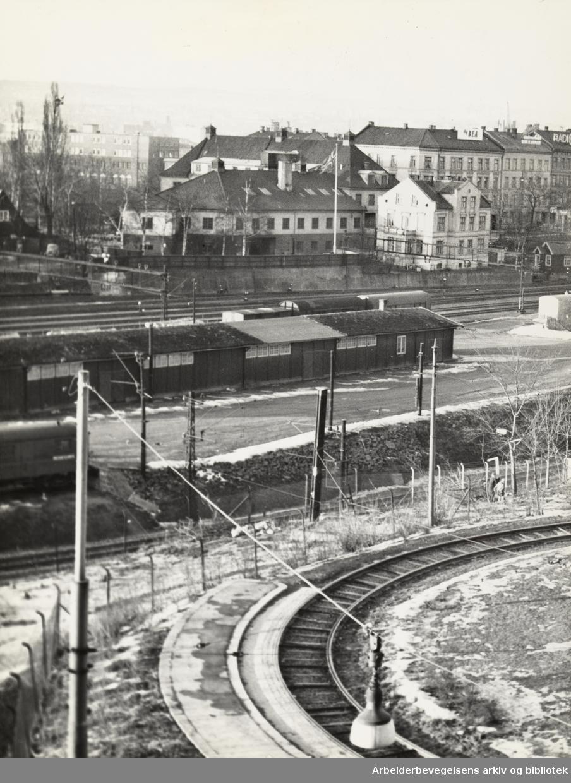 Loenga, der det skal bygges bru. Januar 1960