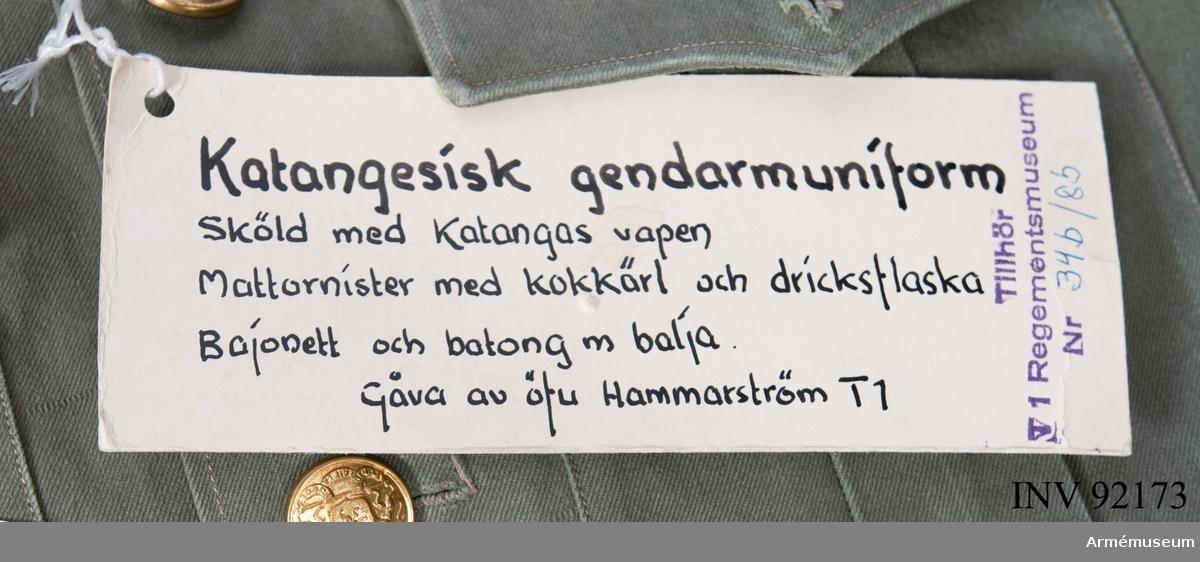 Gåva av öfu (överfurir) Hammarström T1.