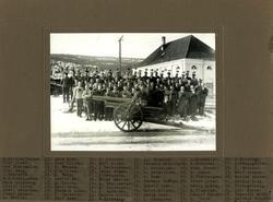 Kanonavd. 12 cm Berghaubitzer nr 1. Oversikt med navn.