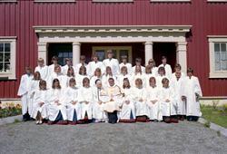 Konfirmasjon, Løkken kirke (Kapell) 1973.