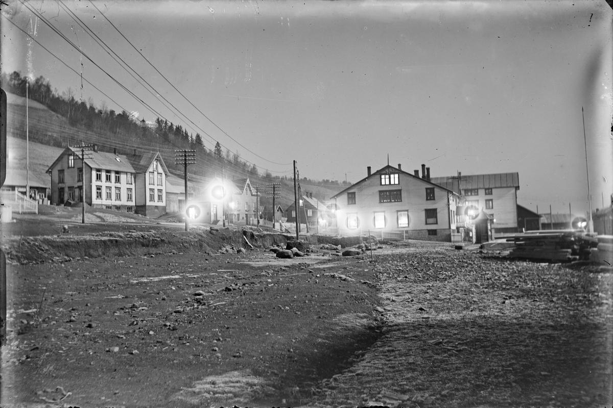Løkken sentrum, stasjonsområdet, oversiktsbilde.