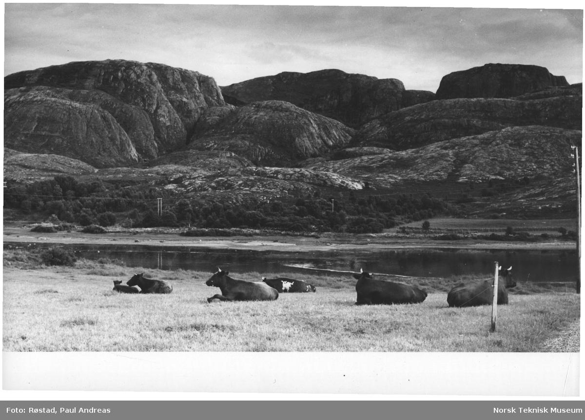 """Tussanfjellet på Vallersundhalvøya med fjellet """"Kopparen"""""""