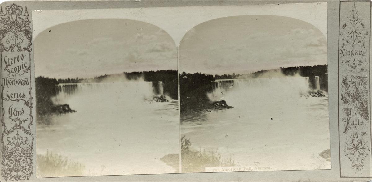 Stereofotografi av den amerikanske delen av Niagarafallene.