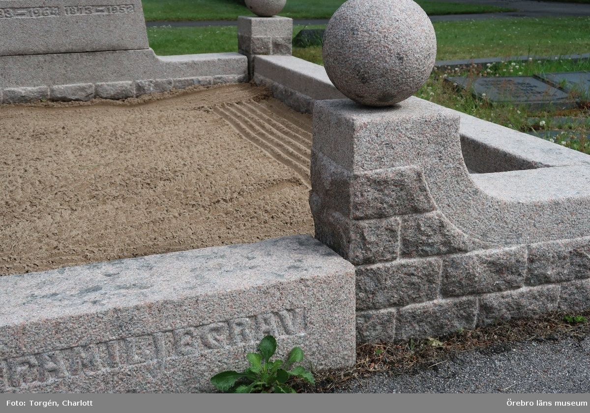 Inventering av kulturhistoriskt värdefulla gravvårdar i samband med upprättade av vård- och underhållsplan för Lindesbergs södra kyrkogård, avseende kulturhistoriska värden.