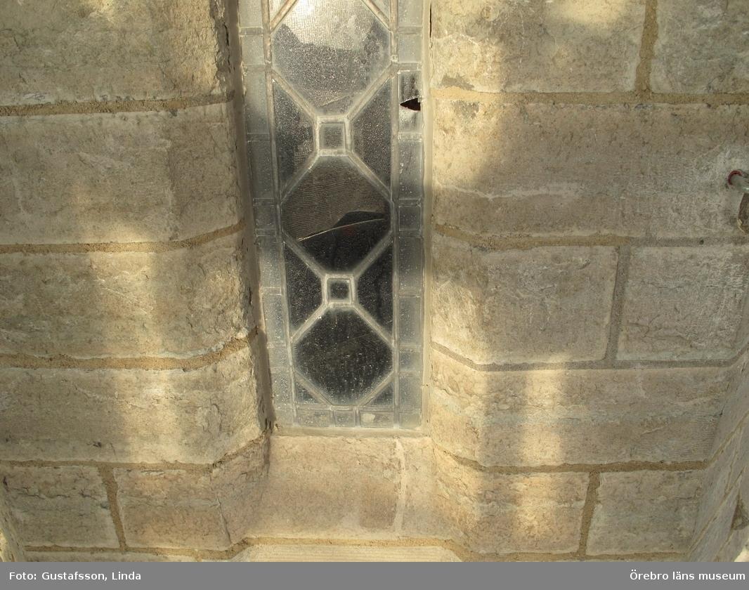 Renoveringsarbeten av tornfasader på Olaus Petri kyrka (Olaus Petri församling).Fönster på södra trapphustornet.Dnr: 2008.230.065