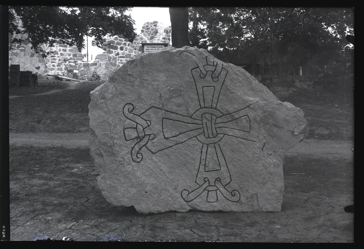 Runsten, Stora Rytterne kyrkoruin, Västerås.