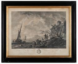 Strand med båtar och fiskare [Grafik]