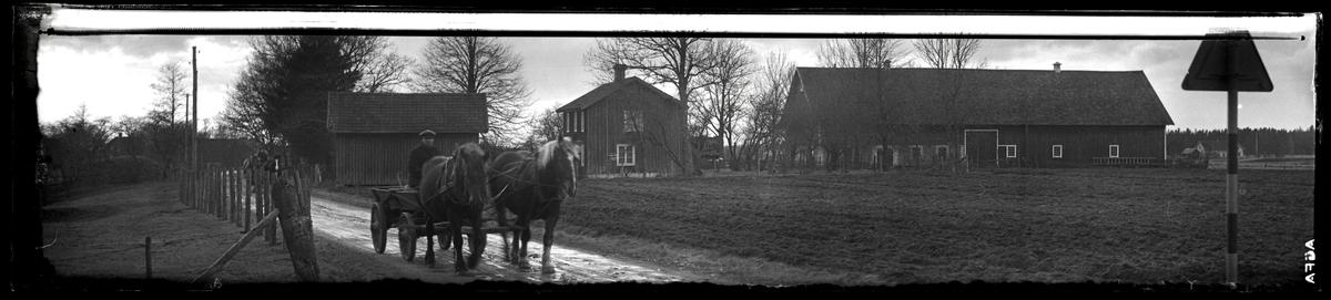 Man med häst och vagn