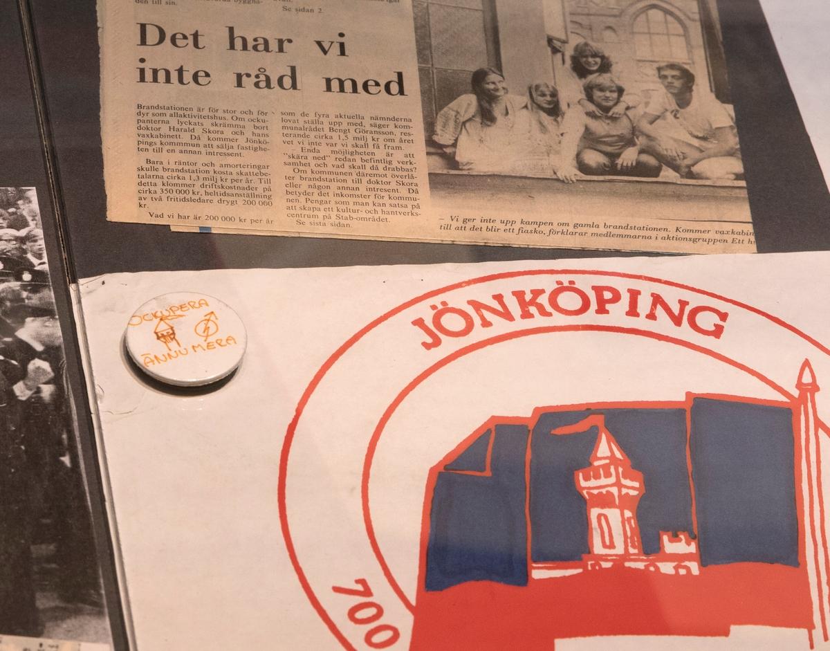 Stadshistoriska utställningen i arkivhuset. Jönköpingsposten 1973-10-03, Se hit kommunalgubbar - vi behöver en lokal. I början av 1970-talet startar ungdomarna en förening för ett hus i centrum.