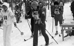 Regementsmästerskap på  skidor.