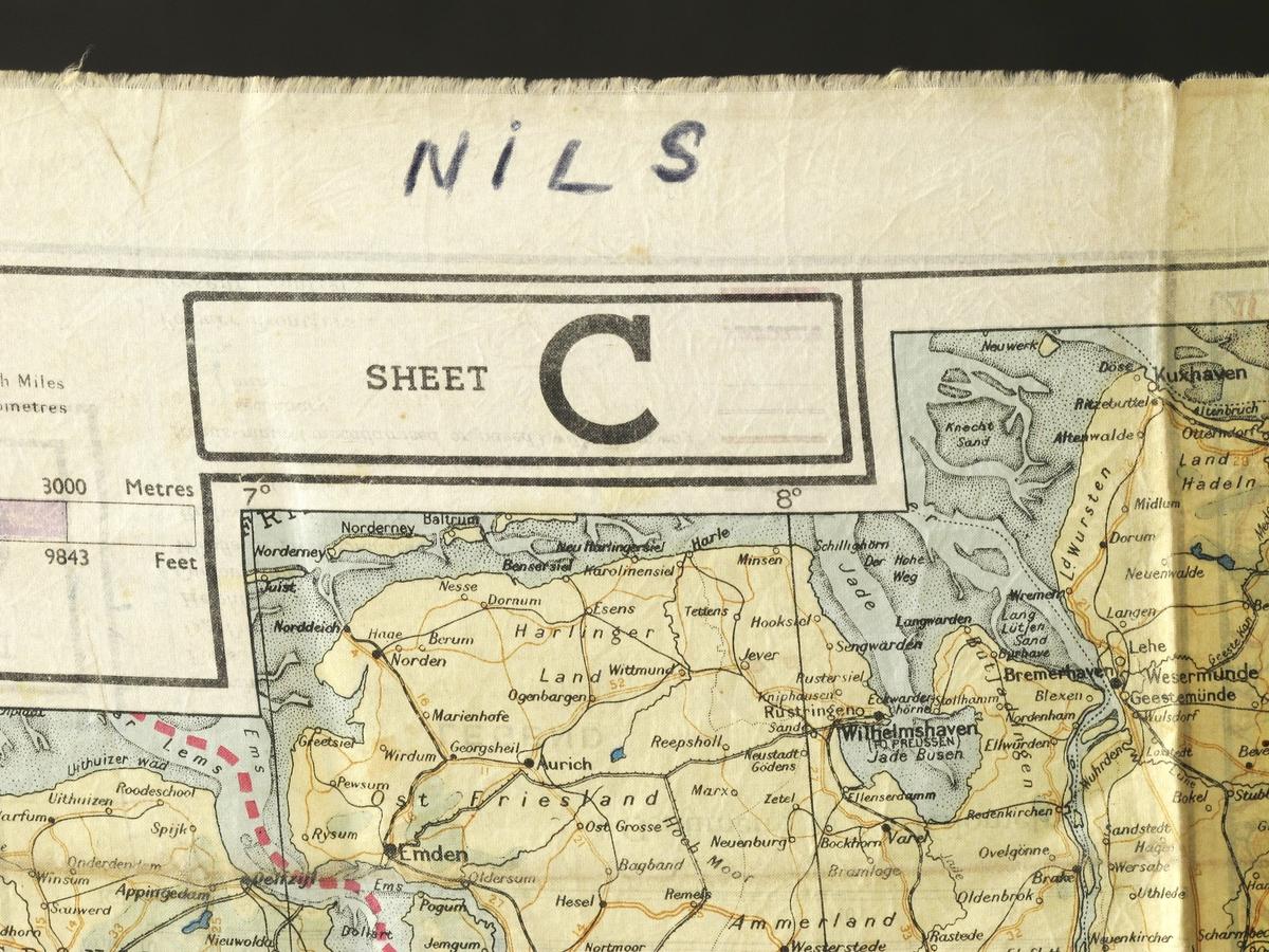 Kartet viser Nederland, Belgia og tilstøtende deler av Tyskland og Frankrike.