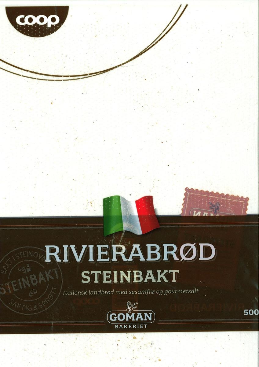 Motiv på posen er et italiensk flagg. Den er plassert øvert på et brunt belte, som går tvers over posen